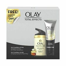 Olay Total Effects Preventive Anti Aging Day Cream & Cleanser Combo Pack of 2