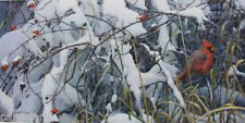 Robert BATEMAN print FRESH SNOW Cardinal LTD art mint in folder COA
