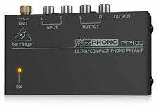 BEHRINGER PP400 Micro Phono Ultra Compact Phono Preamp