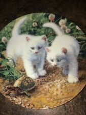 1987 A Chance Meeting: White American Shorthairs Cat Limited Edition # 5397 F