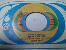 """7"""" CREATIVE SOURCE - I'm gonna get there - EX - SUSSEX - SEX NP 42002 - ITALIA"""