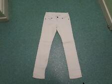 "Moto Slim Leg Jeans Waist 26"" Leg 30"" White Faded Ladies Jeans"