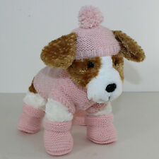 PRINTED INSTRUCTIONS - PUPPY/  KITTEN COAT BOBBLE HAT & BOOTIES KNITTING PATTERN