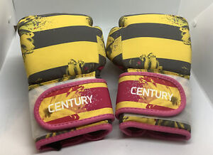 Century Strive Women's Pair Pink & Yellow  Boxing Gloves 10 oz Floral