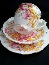 "Vintage Queen Anne ""Orchids"" Fine Bone China England"