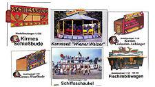 Jugando juegos de video año mercado 6 bastelbogensets 1:120 pista TT carrusel schiffschaukel cabinas
