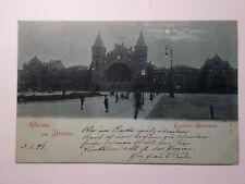 alte   AK Hamburg Altona   Mondscheinkarte  Bahnhof 1898 gelaufen