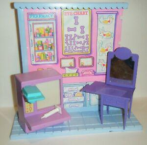 VINTAGE 90's Littlest Pet Shop Lot Hospital Vet Shop Pieces & Accessories