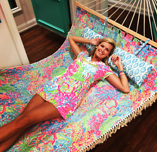"RARE Lilly Pulitzer ""Seaspray Blue Lovers Coral"" Beach Hammock - BRAND NEW"