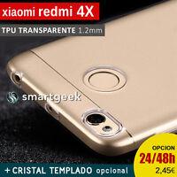 """FUNDA TPU Gel TRANSPARENTE para XIAOMI redmi 4X 5"""" + CRISTAL TEMPLADO case glass"""