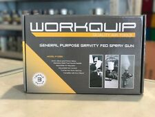 WORKQUIP P102G GRAVITY FEED SPRAY GUN SUPPLIED With 3 Setups, 1.4, 1.8 And 2.5mm