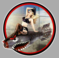STICKER PINUP BOMB NOSE ART WW2 DUB VW COX AUTOCOLLANT PIN UP MOTO PC045
