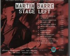 MARTIN BARRE - Stage Left PROMO CD Jethro Tull