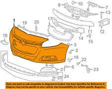 Chevrolet GM OEM 14-16 Malibu-Bumper Cover 23146557