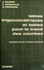 GAUNIN. Tables trigonométriques et pour le tracé des courbes.Trains, routes, etc