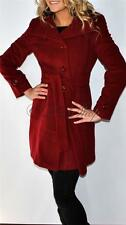 Kenneth Cole Women Trench Coat Wool Blend Belted Single Button Ruby Red Medium