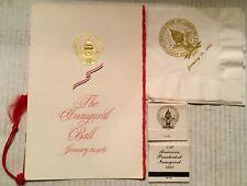 1989 Presidential Inaugural Ball Program, Napkins and Matchbooks