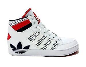 Adida Hardcourt Hi J  Black, Red, White High Top Unisex Sneakers Mens US SZ 6.5