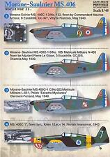 Print Scale Decals 1/48 MORANE SAULNIER MS.406 French Fighter
