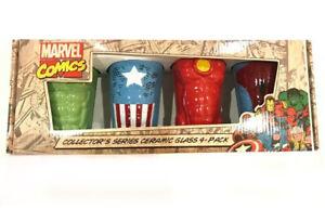 Marvel Comics Avengers Retro Suit Chest Body Torso Collector 4 Pack Pint Cup Set