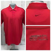 NIKE GOLF DRI-FIT MEN'S CASUAL XL SHORT SLEEVE RED POLO SHIRT POLYESTER