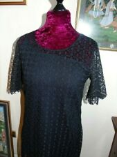 Next Retro Styled Black Lace Dress size 14