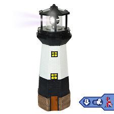 Solar Powered Lighthouse Rotating LED Garden Ornament Patio Light Night Light