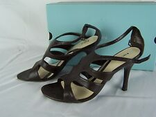 Women's Apt 9 merri brown Leather strappy heels shoes size 8 M