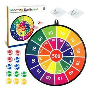 Kids Dart Board Game Set - 14 Inches Dart Board for Kid with 12 Sticky Balls