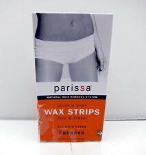 New Parissa Wax Strips Face and Bikini All Hair Types Express 16 8 x 2 Sided