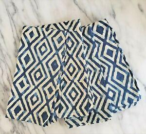NEW World Market Dining Set of 4 Square Cotton Napkins 20 x 20 Blue White BATIK