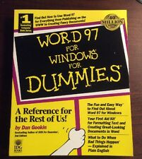 Word 97 For Windows For Dummies (1996, Softcover) Dan Gookin PreOwnedBook.com