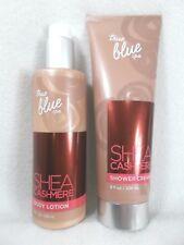 Bath Body Works True Blue Spa 2 pc set SHEA CASHMERE Shower Cream & Body Lotion