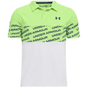 2021 Under Armour Junior Jungen Performance Woodmark Polohemd Ua Kinder Golf Top