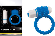 Clitoral Mass Vibrating Cock Ring Blue. Detachable Bullet NMC Product