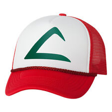Pokemon Game fan costume Hat Pocket Monster Ash Ketchum Trucker foam mesh cap