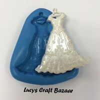 Silicone Mould Wedding Dress Bridal Gown Marriage Cupcake Topper Cake Decorating