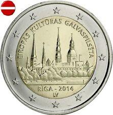 * LOT DE 5 PIECES -- 2 EURO COMMEMORATIVE - UNC - LETTONIE 2014