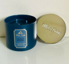 NEW! BATH & BODY WORKS WHITE BARN 3-WICK SCENTED CANDLE - SWEATER WEATHER