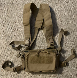 Used Haley Strategic D3CRM Micro Tactical Chest Rig, Coyote, 556 Insert