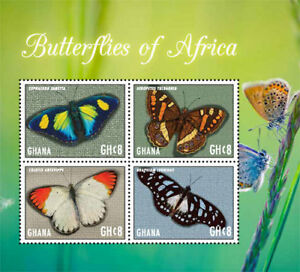 GHANA 2017 Insects, Fauna and Flora, Butterflies I70203