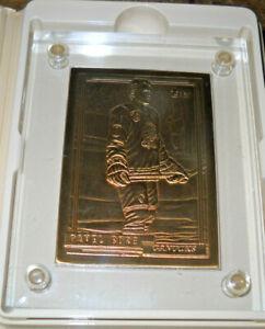 PAVEL BURE HIGHLAND MINT BRONZE MINT CARD COA TOPPS 1992 CANUCKS