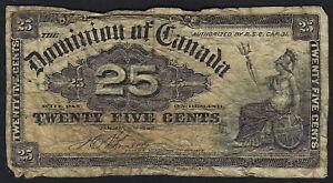Dominion of Canada 25 Cents Shinplaster 1900 (Boville)