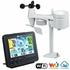 Logia 5-in-1 Weather Station | Indoor/Outdoor Remote Monitoring System Reads Tem