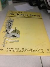 Sheet Music:The Song is Ended, but the melody Lingers on, Irving Berlin 1927