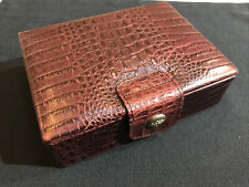 MULBERRY LUXE JEWELLERY BOX~SUPER RARE BORDEAUX CROC PRINT VINTAGE NILE LEATHER