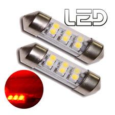 2 Bombilla Lanzadera C5W 36 mm 36mm 6 LED SMD ROJO Iluminación Cabina Luz techo