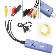 USB 2.0 Converter Audio Video Capture Grabber Adapter for Win XP 7 8 10 NTSC PAL