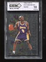 Kobe Bryant RC 1996-97 Fleer Metal #181 Lakers Rookie GEM Elite 10 Pristine