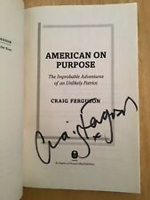 ARC - SIGNED by Craig Ferguson - American On Purpose - Advance Reader Copy SC